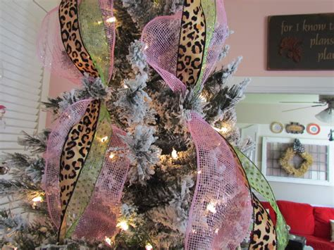 Decor with ideas decorating a christmas tree with mesh ribbon
