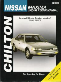 chilton car manuals free download 1992 nissan maxima lane departure warning 1985 1992 nissan maxima chilton s total car care manual