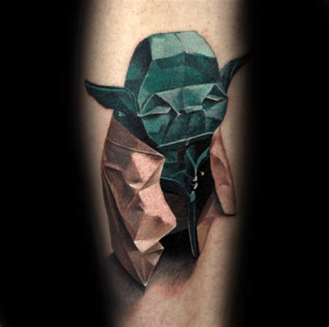 geometric tattoo ink master 60 yoda tattoo designs for men jedi master ink ideas