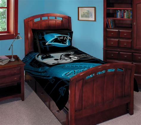 nfl bedroom decor carolina panthers nfl twin comforter set 63 quot x 86 quot