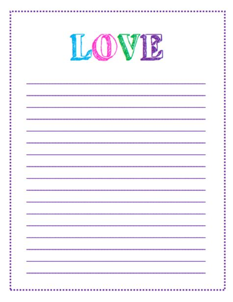 Free Printable Valentine S Day To Do Lists Letter Template With Lines