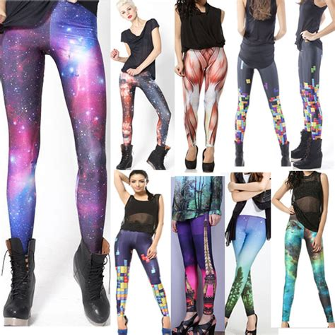 trendy pattern jeans new trendy full length galaxy black leggings unique