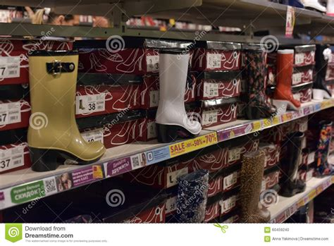 pinellas rubber st a display of colorful boots stock image