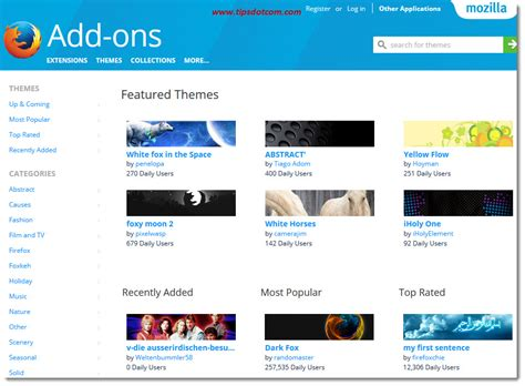 themes firefox mozilla mozilla firefox themes this is how to use them correctly
