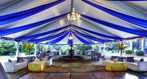 Blue Tent at Legare Waring House   Designed by Engaging