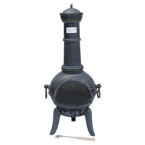 cast iron patio heater foxhunter gold cast iron steel chimenea chiminea chimnea