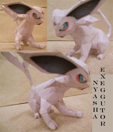 Espeon Papercraft - kimimaro as espeon papercraft by yupuffin on deviantart