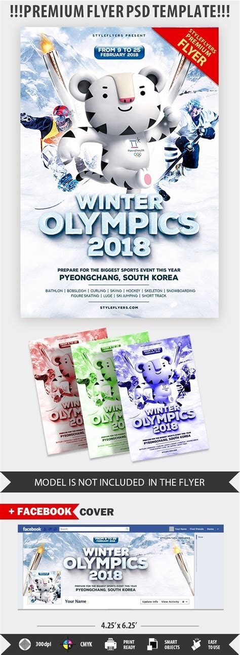 Ad Template 2018 Winter Olympics 2018 Psd Flyer Template 22865 Styleflyers