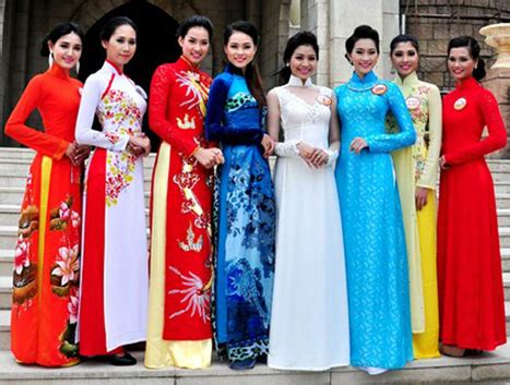 national clothing in vietnam. ao dai, conical hats and