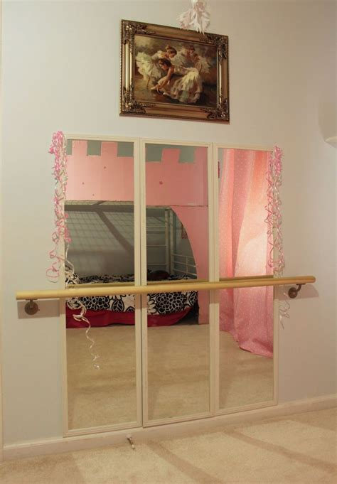 bedroom dance diy ballet studio in our little girls room success
