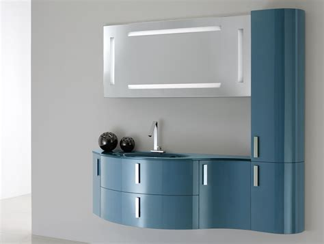 lacquer bathroom vanity tahiti oasis bagni th11 modern italian vanity in cobalt
