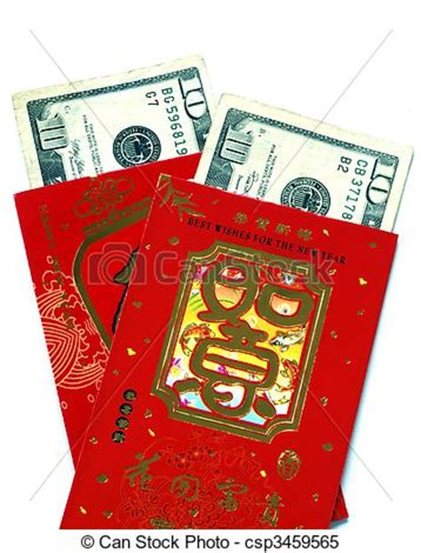 change money for new year lucky moneys clipart