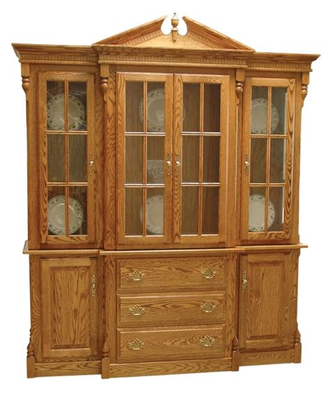 Dining Room China Cabinet Amish Clarkston Dlx Dining Room Hutch Traditional China Cabinet Solid Wood 72 Quot W Ebay