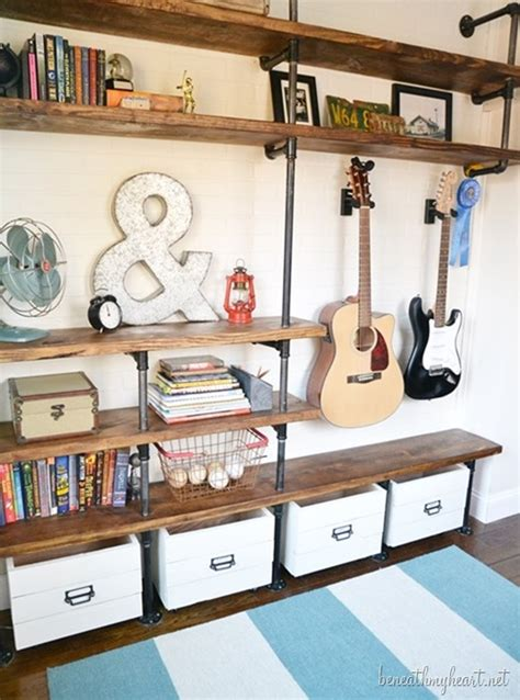 decorating cents industrial shelves