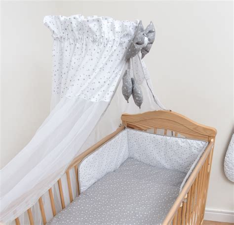 Cot Bed Canopy Chiffon Canopy Drape Mosquito Net Holder Fits Baby Nursery Cot Bed Ebay