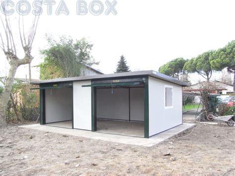 box auto prefabbricati usati garage coibentato ad uno spiovente doppio costabox