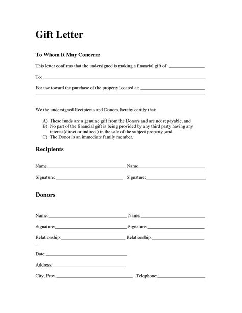 Mortgage Payment Gift Letter Template by Gift Letter For Mortgage Articleezinedirectory