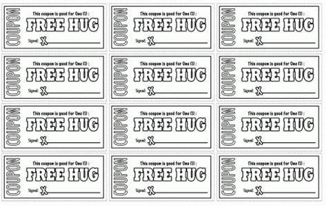 Printable Free Hug Coupons | printable coloring pages for kids coloring pages part 59