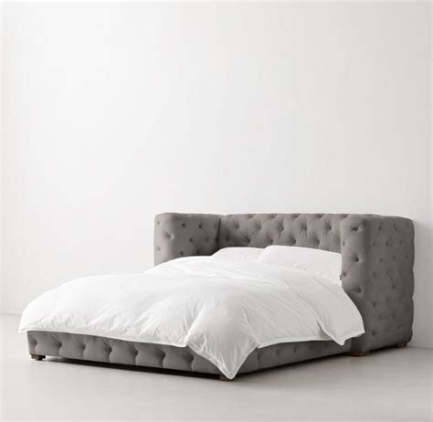 tufted platform bed tribeca tufted fog velvet platform bed