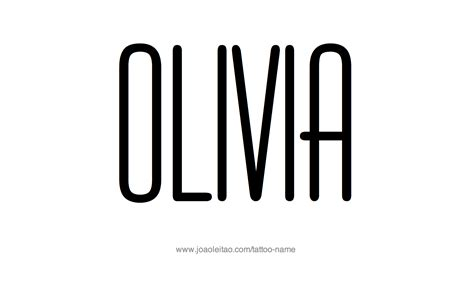 olivia name tattoo designs