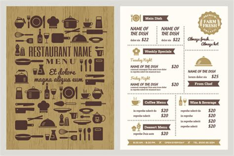 menu design eps file restaurant menu template free vector download 14 160 free