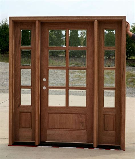 exterior doors with sidelights solid mahogany entry