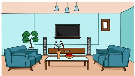 living room sketch illustration animation