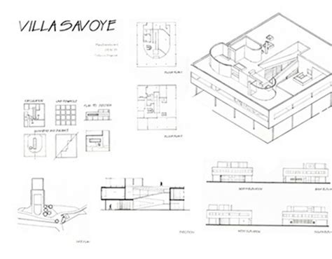 villa savoye floor plans pen by nahekul flickr hand drafting villa savoye on behance