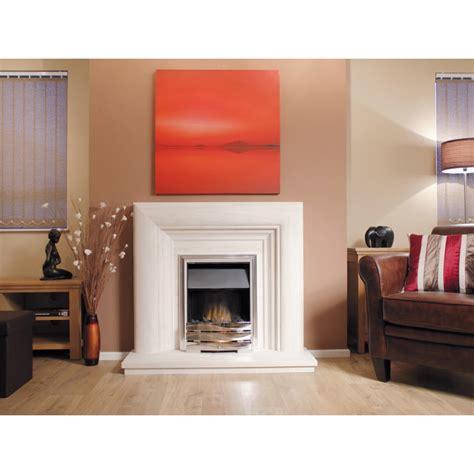 Frame Stone Fireplace