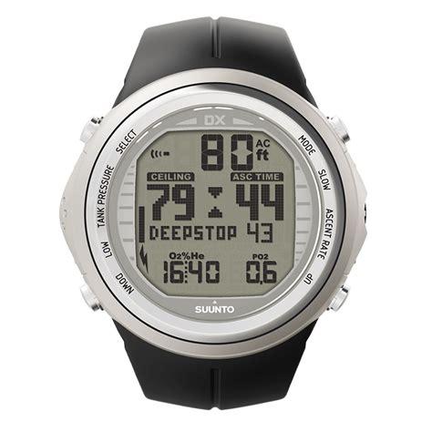 suunto dive watches suunto dx silver elastomer rebreather compatible dive