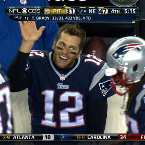 new england patriots tom brady funny face first down