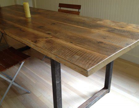 Reclaimed Wood Dining Table Designs Recycled Things A Dining Table From Reclaimed Wood