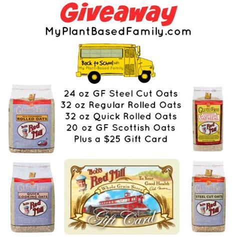 Reds Giveaways - bob s red mill giveaway my plant based family