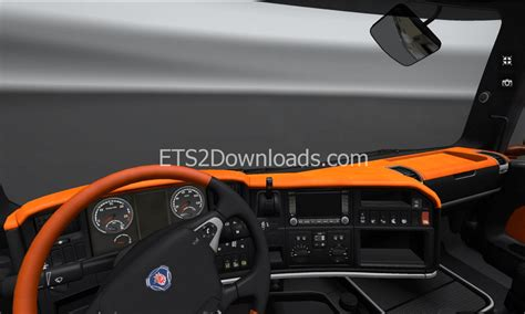black orange interior  scania euro truck simulator  mods