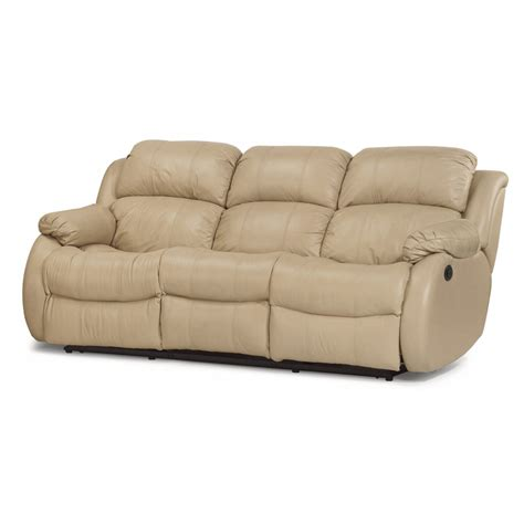 flexsteel reclining sofa flexsteel 1206 62p brandon leather power reclining sofa