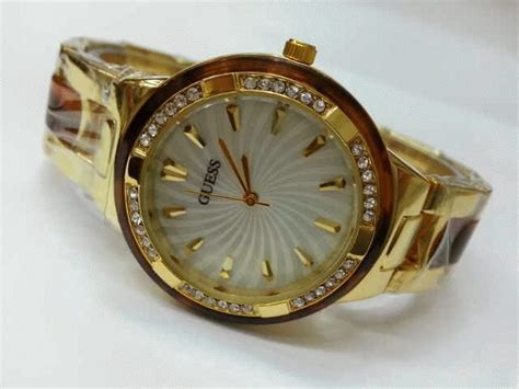 Jam Tangan Guess Semi Ceramic jam tangan guess 8030 gold