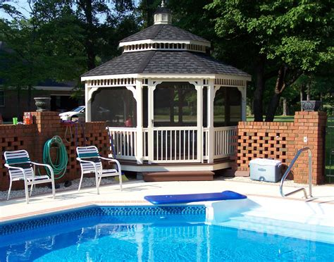 pvc gazebo vinyl roof octagon gazebos gazebos by style