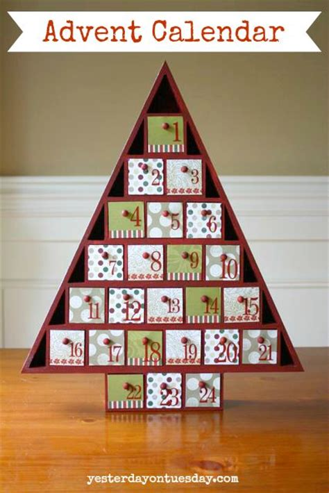 Handmade Wooden Advent Calendar - diy advent calendar adventcalendar christmascrafts