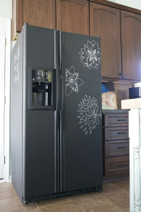 chalk paint you can write on how to chalk board paint your fridge applepins