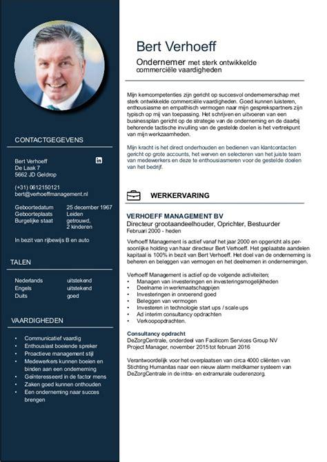 Plantillas De Curriculum Vitae Atractivo Curriculum Vitae Bert Verhoeff