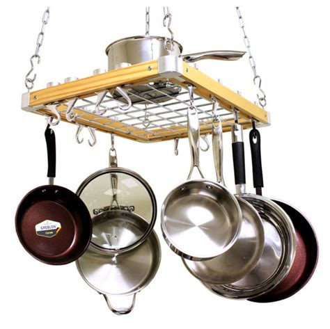 Shelf For Pots And Pans by Pot Rack Hanging Kitchen Set Cookware Pots Pans Shelf