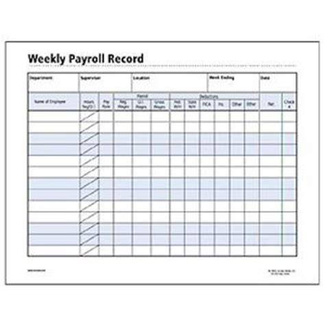 Google And Search On Pinterest Individual Payroll Record Template