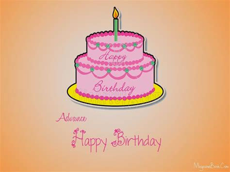 Advance Birthday Cards Happy Birthday Advance Wishes Greeting Cards With Quotes