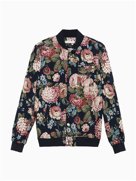 Bomber Flower by Floral Bomber Jackets Jackets