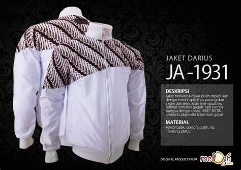 Kemeja Pria Darius jual jaket batik patriot series jaket darius dengan