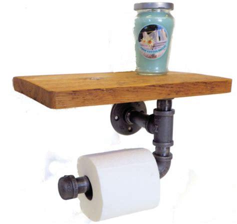 toilet paper shelf reclaimed toilet paper holder with shelf