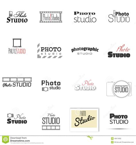 Photo Studio For Label Name Stock Vector Illustration Of Film Business 49674302 Photography Label Templates