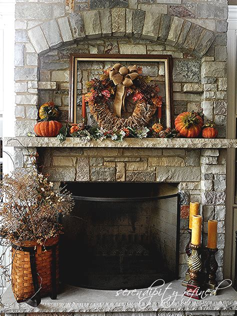 fall mantel decor serendipity refined fall decorating mantels and