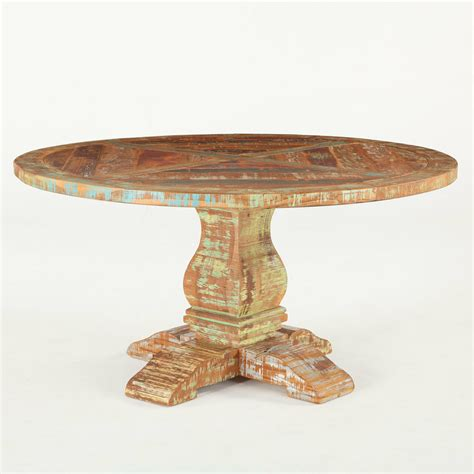 shabby chic reclaimed wood  dining table  zin home