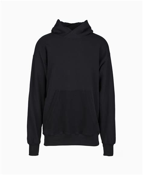Hodie Black 1 represent oversized plain hoodie black